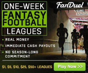 FanDuel Legal Fantasy Football Sportsbook Betting